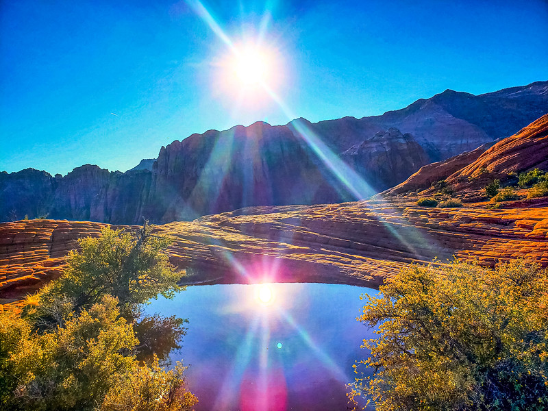 Snow Canyon sun reflection.jpg