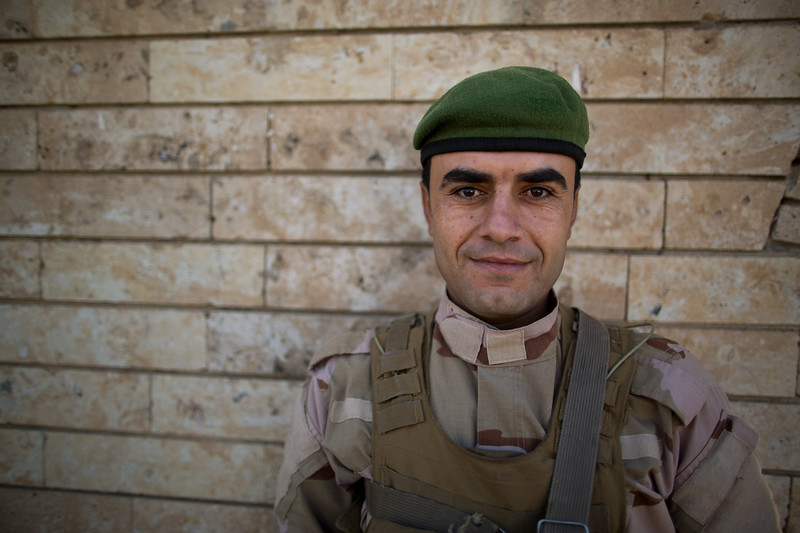 Peshmerga guard, Sulaymaniyah, Iraqi Kurdistan.