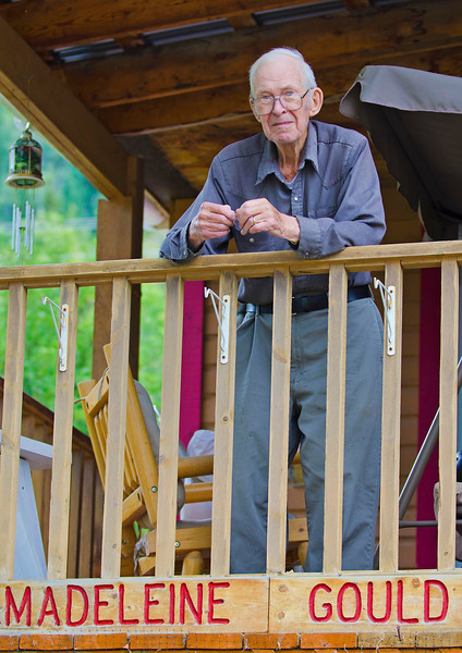 Mr. Gould, 93 year old lifelong resident of Dawson City, Yukon Territory.