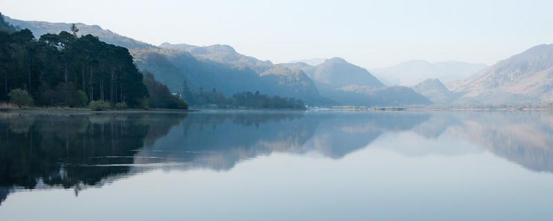 Morning light on Derwent Water lake