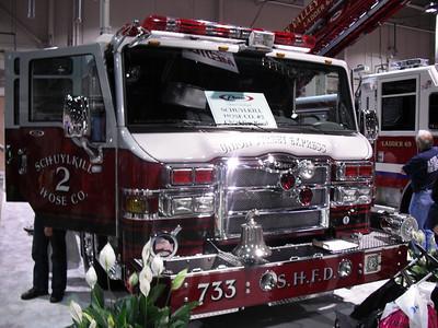 COAL REGION TRUCKS AT THE HARRISBURG FIRE EXPO