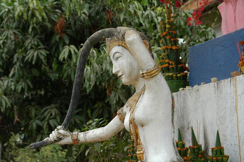 Female Statue (Torani) at Wat Aphai - Luang Prabang