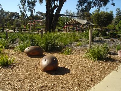 timber wombat sculptures