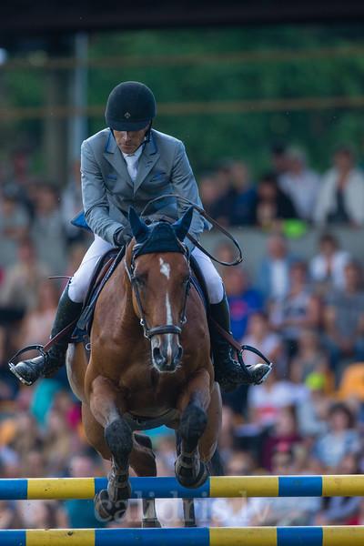 Gunnar KLETTENBERG (EST) with the horse QUOTE, World Cup competition, Grand Prix Riga, CSI2*-W, CSIYH1* - Riga 2016, Latvia