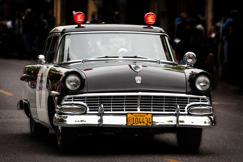 Police Car, Bunnies and Bonnets Parade, Campbell, California, 2010