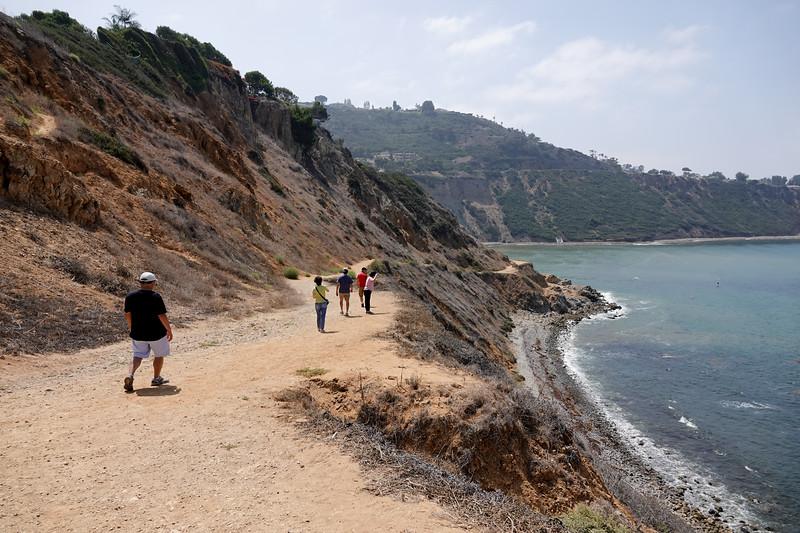 Walking down Bluff Cove in Palos Verdes Estates