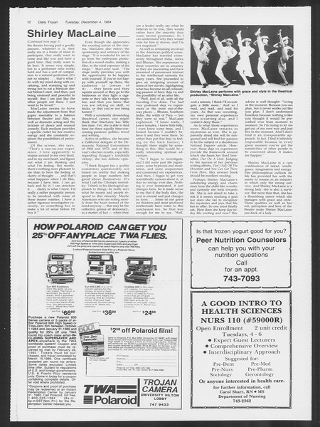 Daily Trojan, Vol. 97, No. 62, December 04, 1984