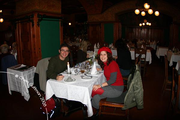 Me and Moran at Matyas Pince traditional Hungarian restaurant.
