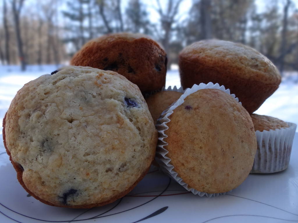 . A warm Blueberry-Orange Muffin during this winters cold.....
