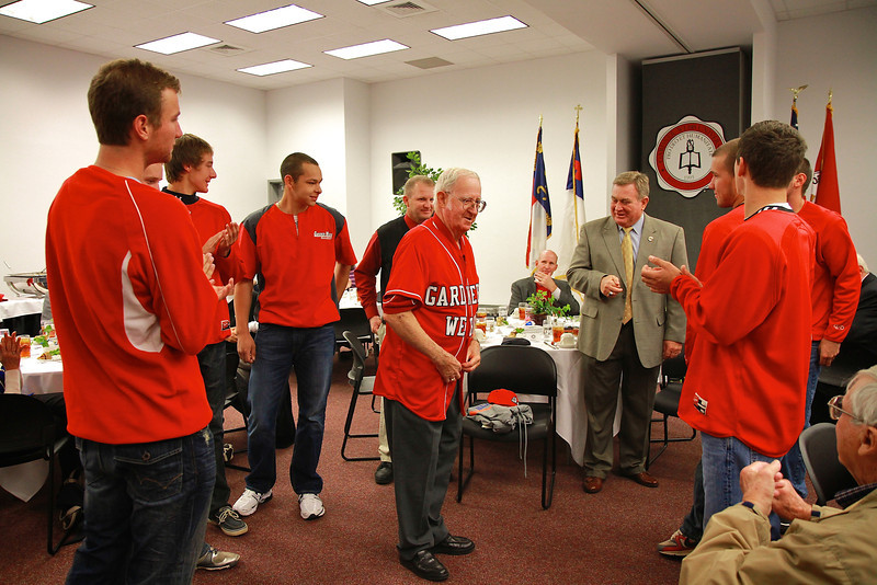 Lunchoen post-naming of the Bill & Sue Masters Athletic facility; November 12, 2011.