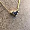 1.32ct Vintage Sapphire Bezel Necklace 6