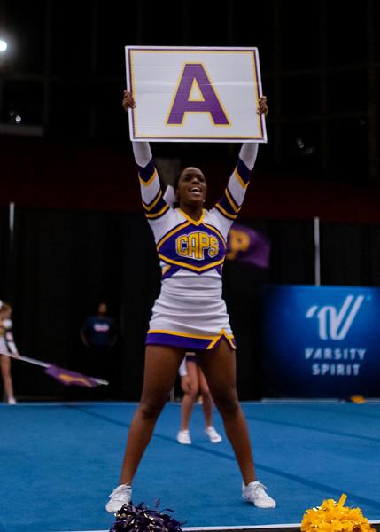 Broughton cheerleading Pre-States. November 16, 2019. D4S_1753