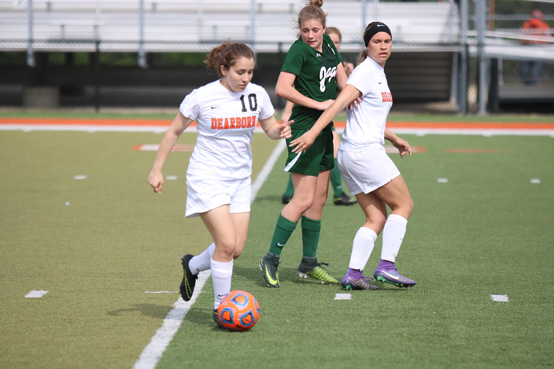 Dearborn High welcomed in Allen Park for a non-league game on Tuesday afternoon and knocked off the Jaguars by a score of 8-0. Photo by Ryan Dickey - For Digital First Media