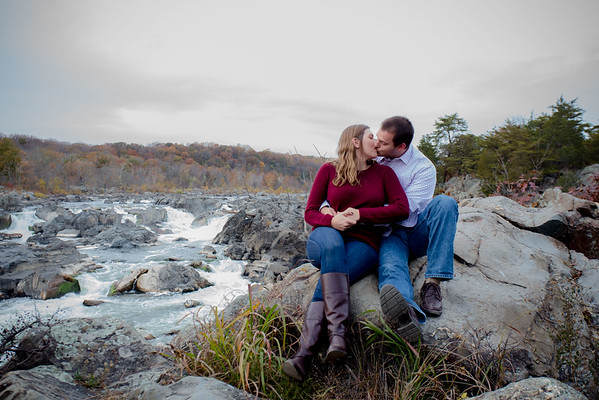 Megan and Chris - Engagement - Great Falls Park - Maryland