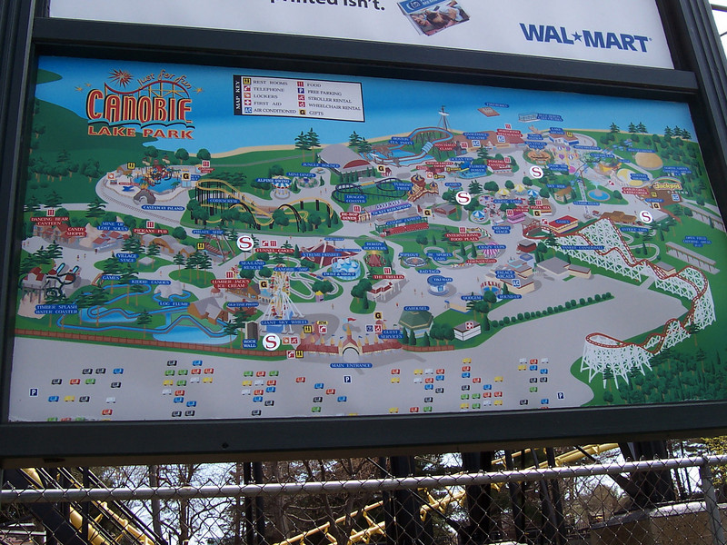 Smoking areas were added to the park map billboards. I see five of them on this map.