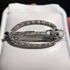 Art Deco Diamond and Onyx Brooch 12