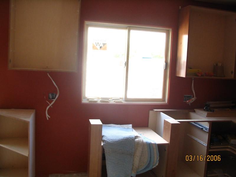 Looking toward the kitchen window.