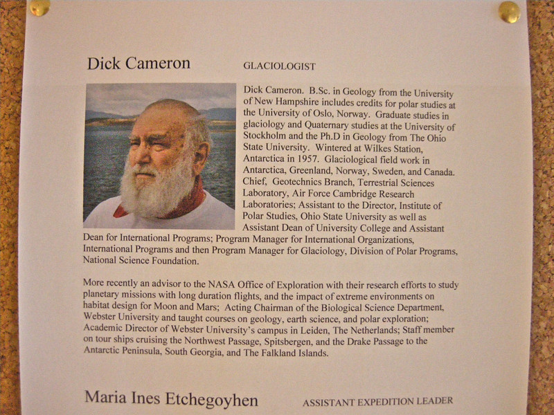 One of the crew,Dick Cameron, a Glaciologist