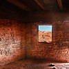Cool red rocks provide shelter from Valley of Fire heat, Nevada