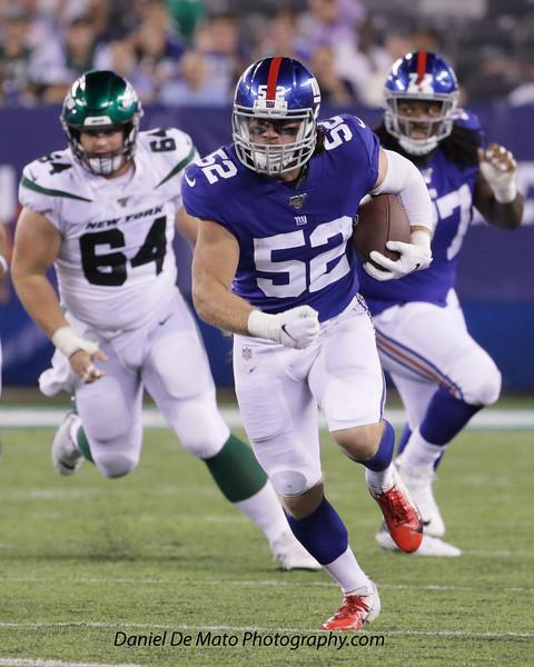 NY Giants- Jake Carlock #52 and James O'Hagan #60