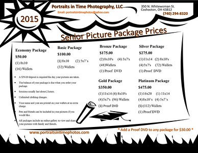 SENIOR PICTURE PACKAGES