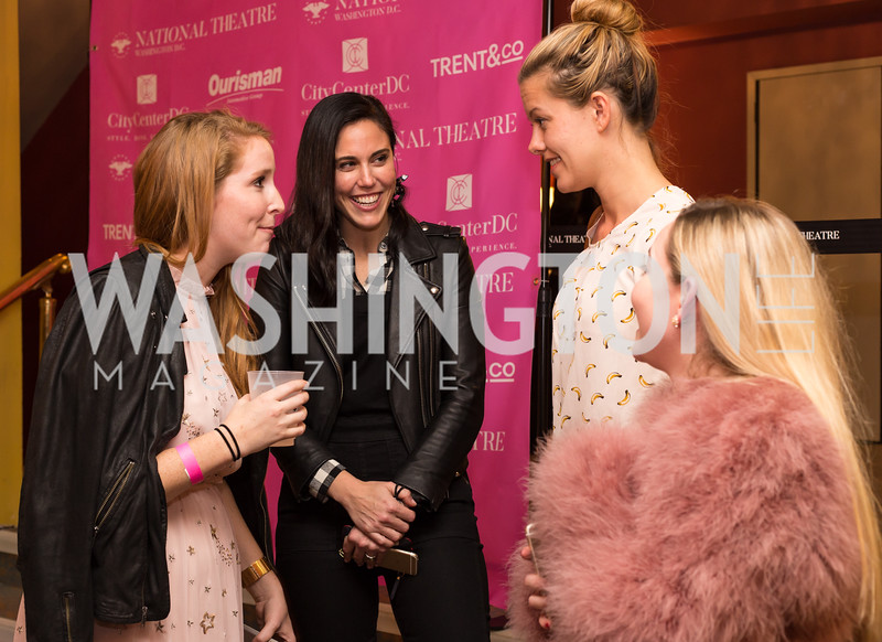 Juliet Ourisman, Candace Ourisman, Kate Rockwell, Young Patrons National Theatre Fundraiser November 30, 2017 Photo by Naku Mayo