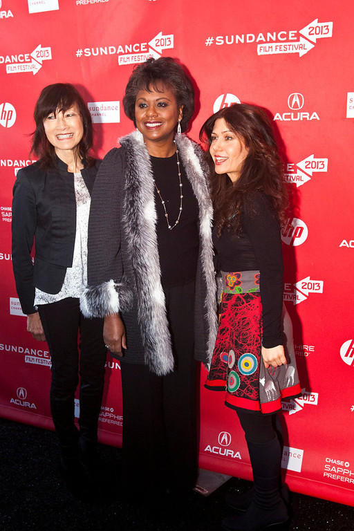 . Chris Detrick  |  The Salt Lake Tribune Director Freida Lee Mock, Anita Hill and Composer Lili Haydn poses for pictures before the premiere of \'Anita\' during the 2013 Sundance Film Festival in Park City, Utah Saturday January 19, 2013