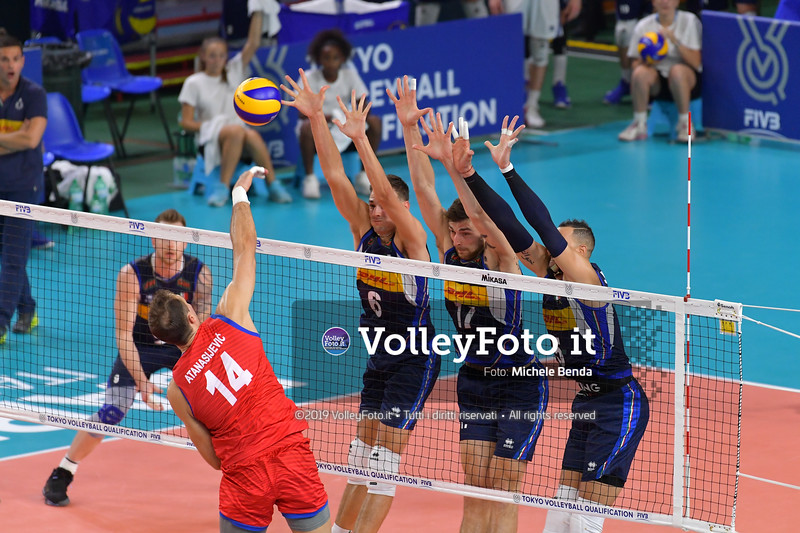 ITALIA vs SERBIA, 2019 FIVB Intercontinental Olympic Qualification Tournament - Men's Pool C IT, 11 agosto 2019. Foto: Michele Benda per VolleyFoto.it [riferimento file: 2019-08-11/ND5_7049]