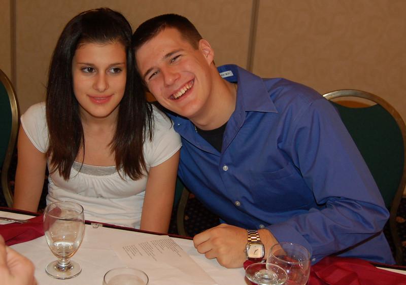 Dan & Megan... so nice when they get along.