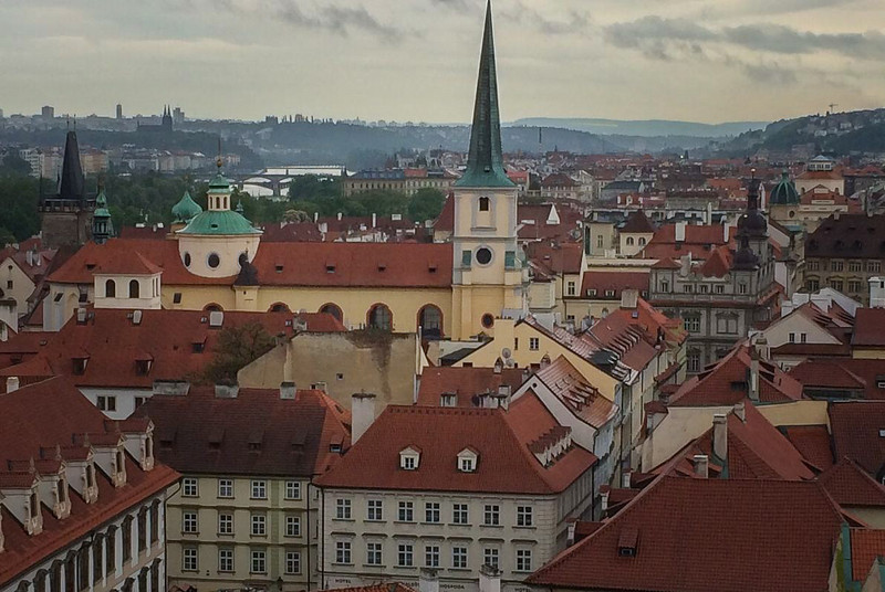 "Prague: Mala Strana (""Lesser Town"") and Vltava River"