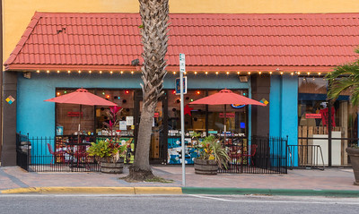 A colorful little coffee shop