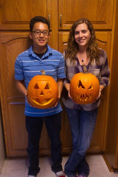 10-11-2013 pumpkins with Steven