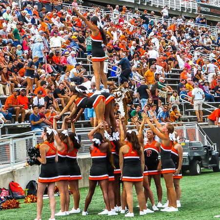 Princeton vs Georgetown Cheerleaders Band Fans Pre-Post