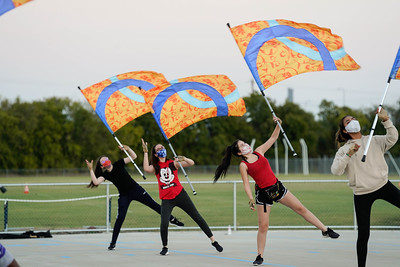 Color Guard Rehearsal, Oct 19, 2020