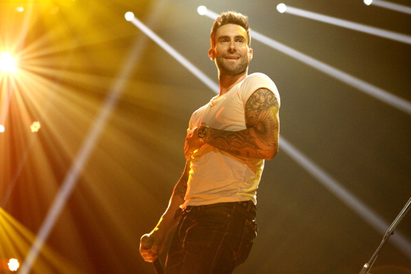 . INDIANAPOLIS, IN - FEBRUARY 02:  Singer Adam Levine performs onstage during VH1\'s Super Bowl Fan Jam at Indiana State Fairgrounds, Pepsi Coliseum on February 2, 2012 in Indianapolis, Indiana.  (Photo by Christopher Polk/Getty Images for Vh1)