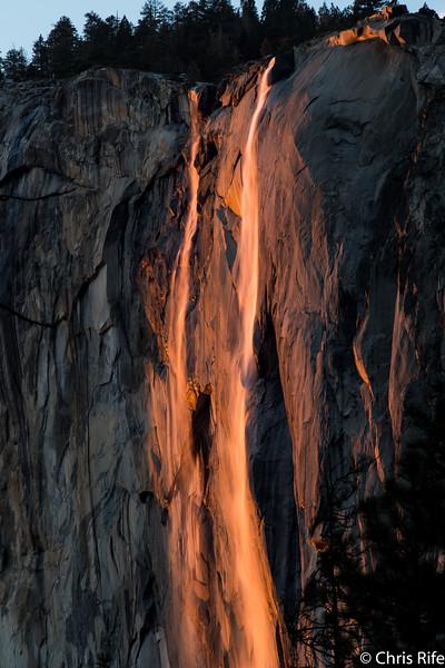 Horsetail Falls, Feb 2016