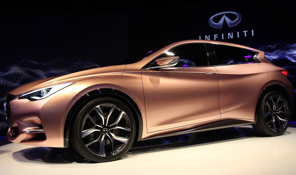 . The new Infiniti Q 30 concept car is displayed during a press conference of Infiniti, the luxury brand of Renault - Nissan, on September 10, 2013 at the media day of the 65th edition of the IAA (Internationale Automobil Ausstellung) auto fair in Frankfurt am Main, western Germany. AFP PHOTO / DANIEL ROLAND/AFP/Getty Images