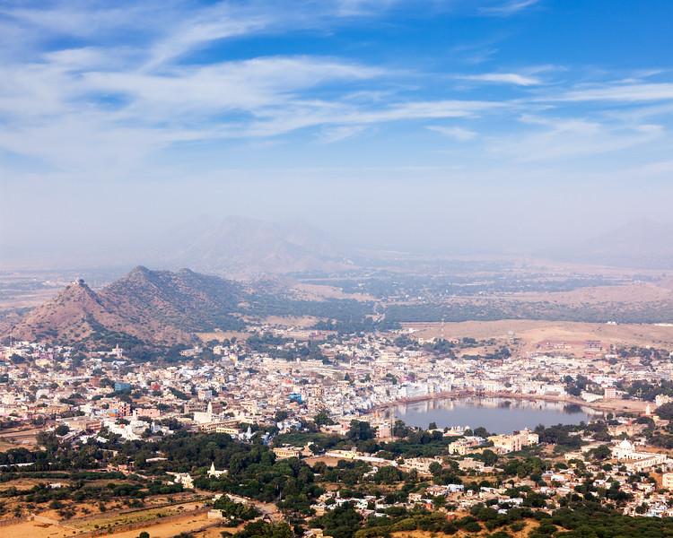 Holy city Pushkar. . Rajasthan, India
