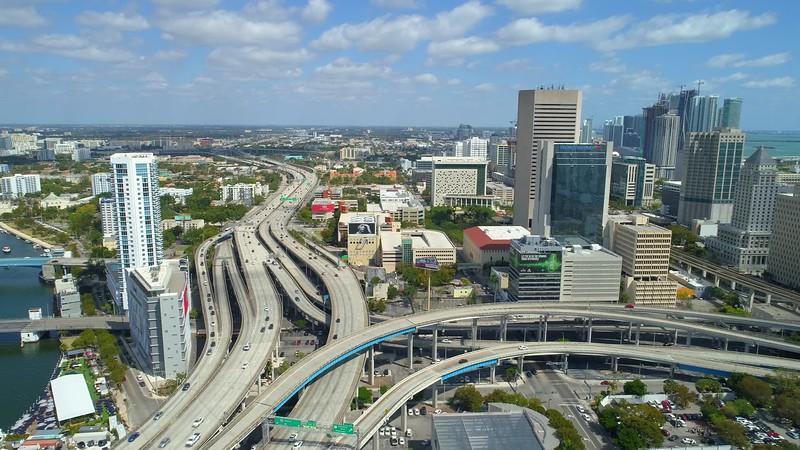 Aerial Miami City Tour 4k stock footage