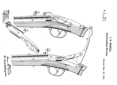 20,954 RE 1157 - Improvement in Firearms, assigned to the Merrill Patent Firearms Mfg Co (March 26, 1861)