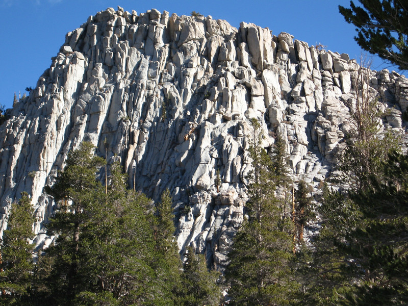 closer view of rocky outcropping
