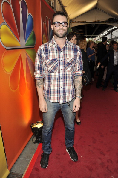 ". NBCUNIVERSAL EVENTS -- ""2012 NBC Upfront Presentation\"" Red Carpet/Green Room roaming -- Pictured: Adam Levine \""The Voice\"" -- (Photo by: Charles Sykes/NBC/NBCU Photo Bank via Getty Images)"