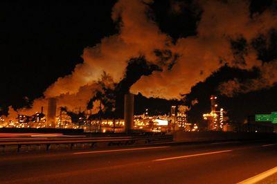 NJ Turnpike smoke stacks