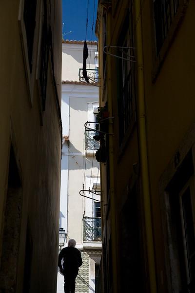 Typical narrow street, Alfama, Lisbon