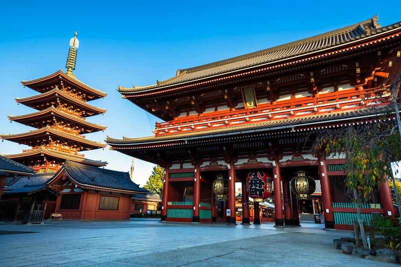 Senso-ji Temple in Asakusa. Editorial credit: Patrick Foto / Shutterstock.com
