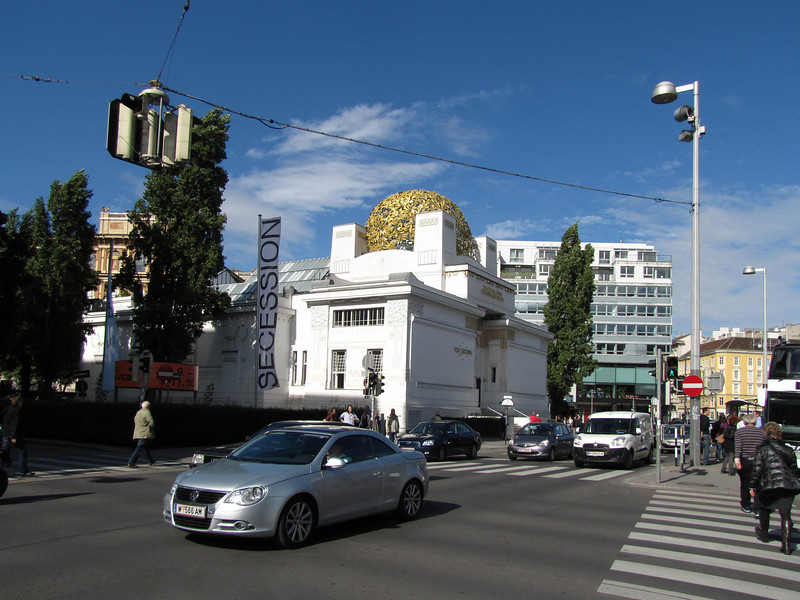01-Secession Building. Architect Joseph Maria Olbrich was fully aware of the provocation that would be caused by the exhibition pavilion he designed in 1898 for the Wiener Secession, a society of artists founded in 1897.
