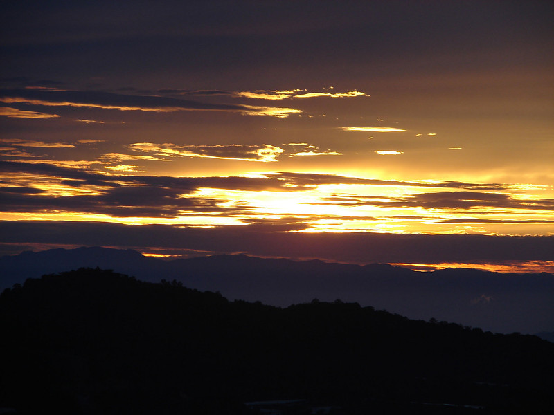 Sunrise over The cameron Highlands from our bedroom window (8).JPG