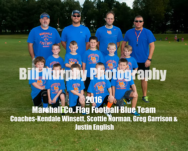2016 Marshall Co. Blue Flag Football Team