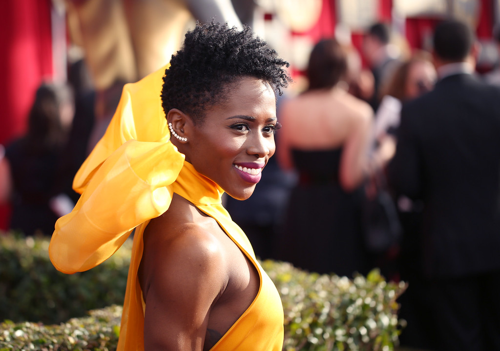 . Sola Bamis arrives at the 22nd annual Screen Actors Guild Awards at the Shrine Auditorium & Expo Hall on Saturday, Jan. 30, 2016, in Los Angeles. (Photo by Matt Sayles/Invision/AP)