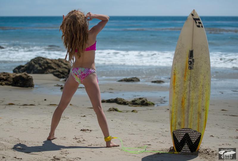 Dreadlocks rock! Nikon D800 E photos of Pretty Swimsuit Bikini Model